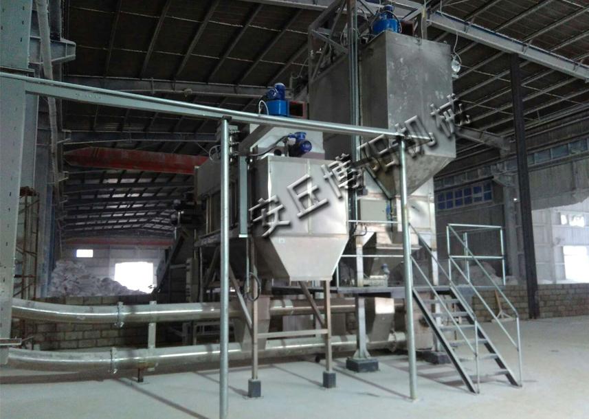 木熟淀粉吨袋拆包机+管链输送机生产线
